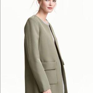 H&M Olive Green Light Chic Jacket/Coat NWT